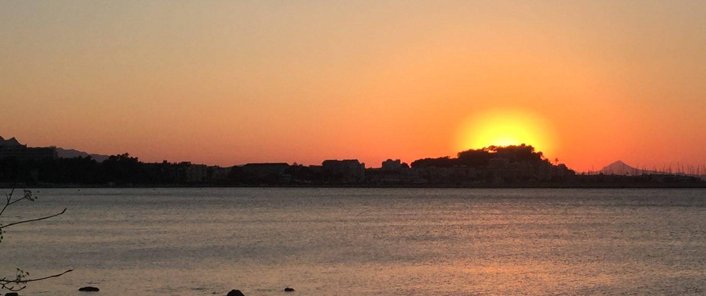 Atardecer desde la playa de la Marineta Casiana, Denia
